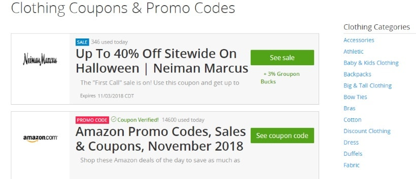 Coupon Sites - Promolily