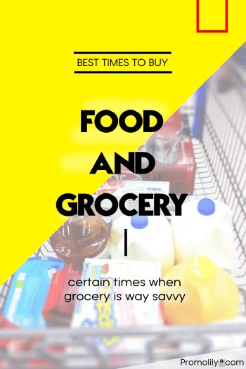 Best Time to Buy Food & Groceries